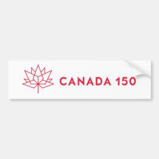 Logo de fonctionnaire du Canada 150 - contour Autocollant De Voiture