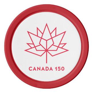 Logo de fonctionnaire du Canada 150 - contour Jetons De Poker