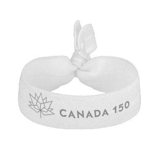 Logo de fonctionnaire du Canada 150 - contour noir Élastiques À Cheveux