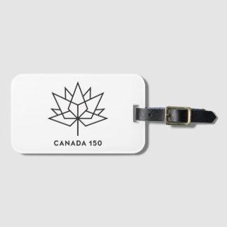 Logo de fonctionnaire du Canada 150 - contour noir Étiquette Pour Bagages