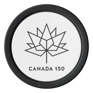 Logo de fonctionnaire du Canada 150 - contour noir Rouleau De Jetons De Poker