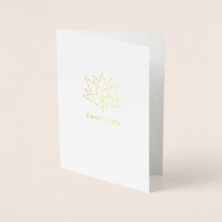 Logo de fonctionnaire du Canada 150 Foil Card