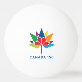 Logo de fonctionnaire du Canada 150 - multicolore Balle De Ping Pong