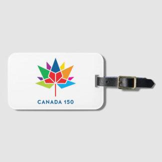 Logo de fonctionnaire du Canada 150 - multicolore Étiquettes Bagages