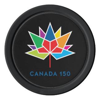 Logo de fonctionnaire du Canada 150 - multicolore Jetons De Poker
