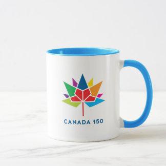 Logo de fonctionnaire du Canada 150 - multicolore Mug