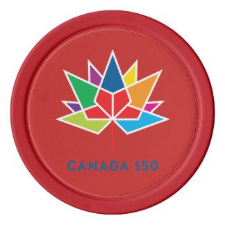 Logo de fonctionnaire du Canada 150 - multicolore Rouleau De Jetons De Poker