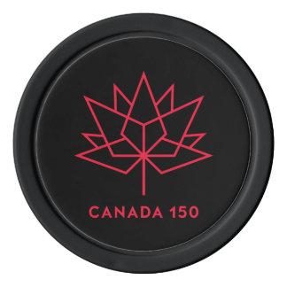 Logo de fonctionnaire du Canada 150 - noir et Rouleau De Jetons De Poker