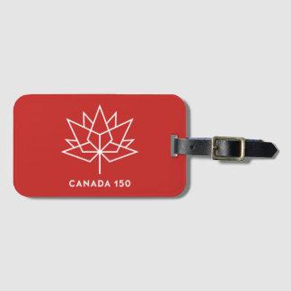Logo de fonctionnaire du Canada 150 - rouge et Étiquette Pour Bagages