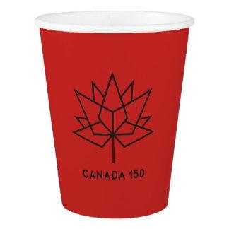 Logo de fonctionnaire du Canada 150 - rouge et Gobelets En Papier