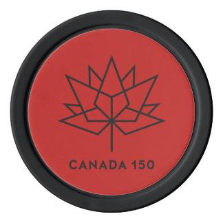 Logo de fonctionnaire du Canada 150 - rouge et Jetons De Poker