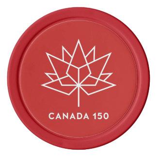 Logo de fonctionnaire du Canada 150 - rouge et Lot De Jeton De Poker
