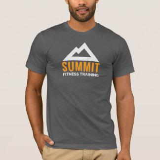 Logo de formation de forme physique de sommet t-shirt