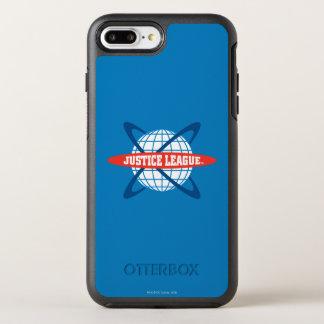 Logo de globe de ligue de justice coque otterbox symmetry pour iPhone 7 plus