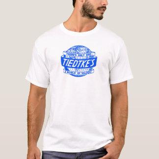 Logo de globe de Toledo Ohio de magasin de Tiedtke T-shirt