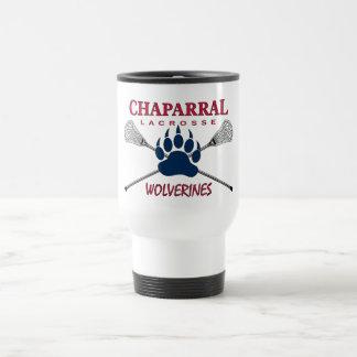 Logo de griffe de ChapLAX tasse de voyage de 15