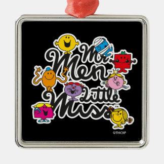 Logo de groupe de M. Men Little Mlle | Ornement Carré Argenté