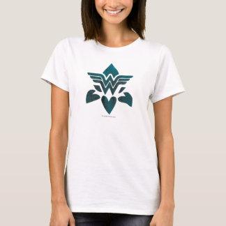 Logo de grunge de femme de merveille t-shirt