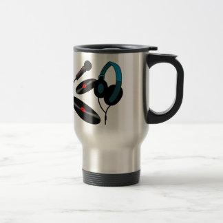 Logo de jockey de disque mug de voyage