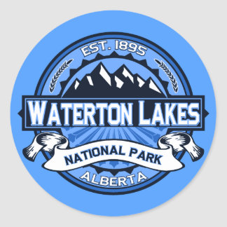 Logo de lacs Waterton Sticker Rond