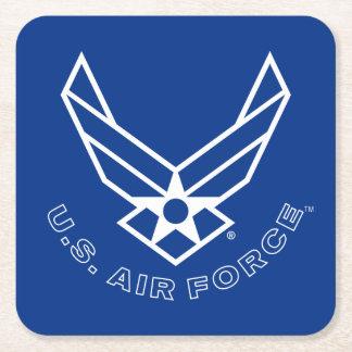 Logo de l'Armée de l'Air - bleu Dessous-de-verre Carré En Papier
