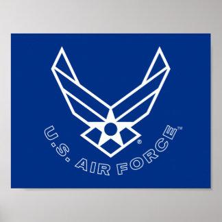 Logo de l'Armée de l'Air - bleu Poster