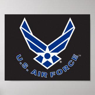 Logo de l'Armée de l'Air - bleu Posters