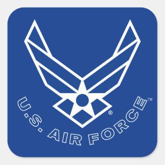 Logo de l'Armée de l'Air - bleu Sticker Carré