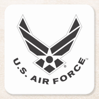 Logo de l'Armée de l'Air - noir Dessous-de-verre Carré En Papier