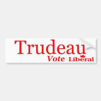 Logo de libéral de vote de Trudeau Autocollant De Voiture