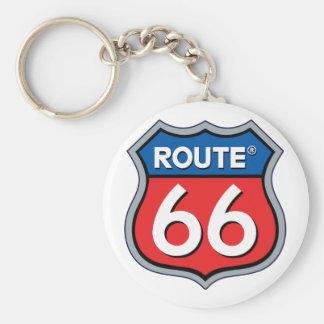 Logo de l'itinéraire 66 porte-clé rond
