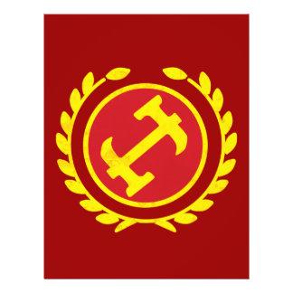 Logo de maçon en pierre prospectus en couleur