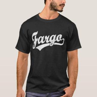 Logo de manuscrit de Fargo dans le blanc T-shirt