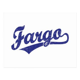 Logo de manuscrit de Fargo dans le bleu Carte Postale