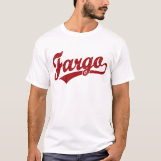 Logo de manuscrit de Fargo en rouge T-shirt