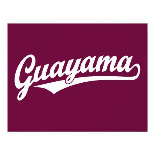 Logo de manuscrit de Guayama dans le blanc Tract