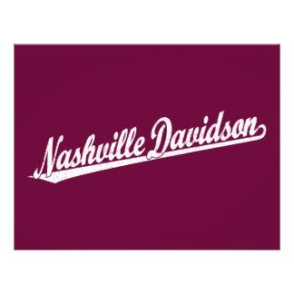 Logo de manuscrit de Nashville-Davidson dans le bl Prospectus 21,6 Cm X 24,94 Cm