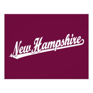 Logo de manuscrit du New Hampshire dans le blanc Prospectus 21,6 Cm X 24,94 Cm