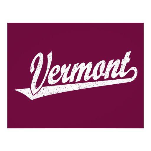 Logo de manuscrit du Vermont dans le blanc affligé Tract Customisé