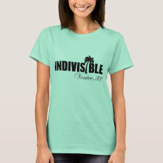 Logo de noir du T-shirt des femmes indivisibles de