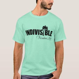 Logo de noir du T-shirt des hommes indivisibles de