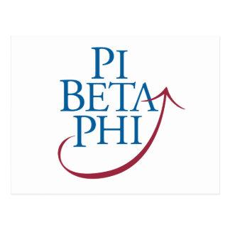 Logo de phi de pi carte postale