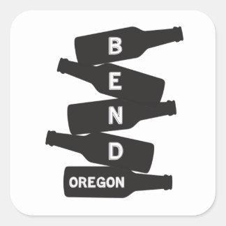Logo de pile de bouteille à bière de l'Orégon de Sticker Carré