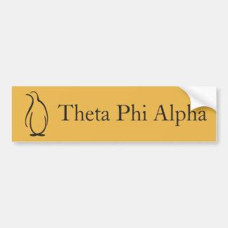 Logo de pingouin de phi de thêta alpha autocollant pour voiture