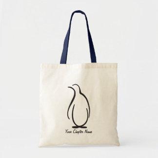 Logo de pingouin de phi de thêta alpha sacs