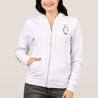 Logo de pingouin de phi de thêta alpha veste à capuche