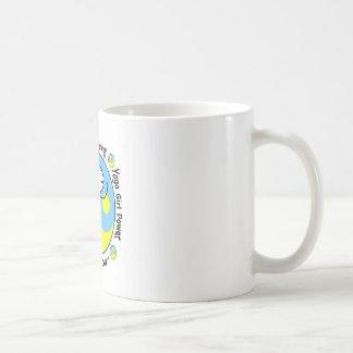 Logo de puissance de fille de yoga mug