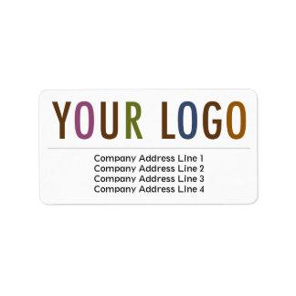 Logo de retour de coutume d'étiquettes de adresse étiquette d'adresse