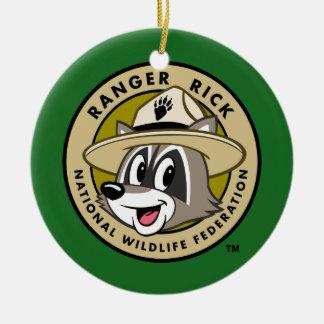 Logo de Rick de garde forestière de Rick | de Ornement Rond En Céramique