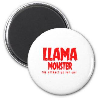 Logo de rouge de monstre de lama aimant